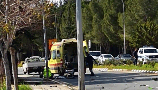 UPDATE-Paphos: 38-year-old motorcyclist father of twins dies in accident (pic)