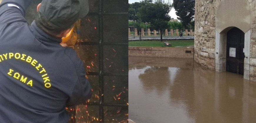 Unbelievable problems by downpour in Thessaloniki! (VIDEO)