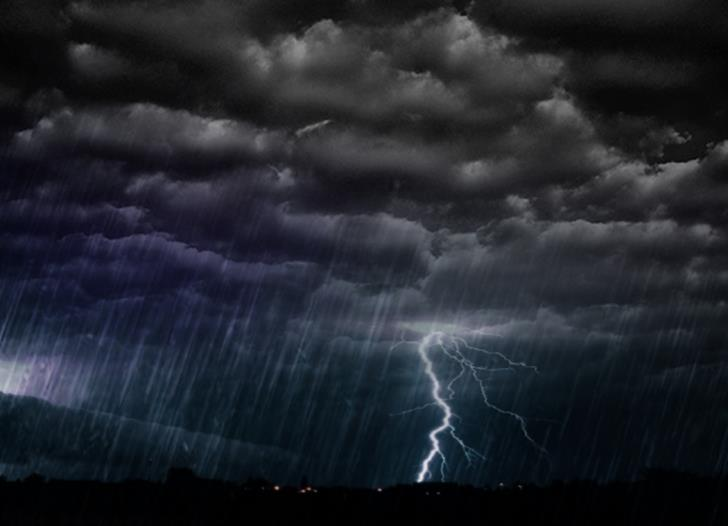 Rain and thunderstorms; met office yellow alert in force until 11 pm