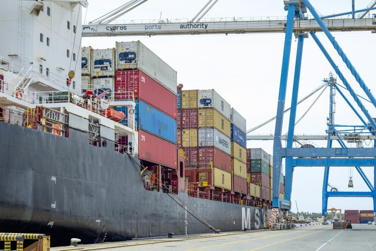 Trade deficit declines in the first two months of the year