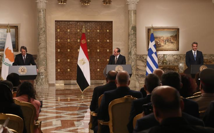 Trilateral Summit in Cairo calls for an immediate end to Turkey's illegal actions in Cyprus' EEZ