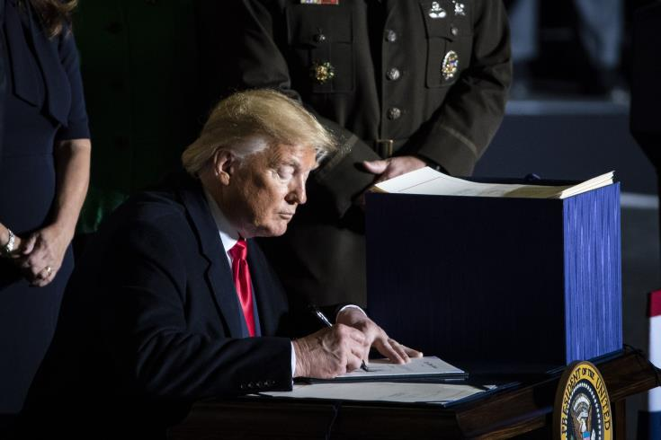 US President signs bills lifting arms embargo on Cyprus while endorsing East Med Act