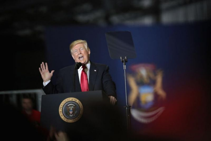 Trump Greeted With Chants of 'Nobel' at Michigan Rally After North Korea Peace Talks