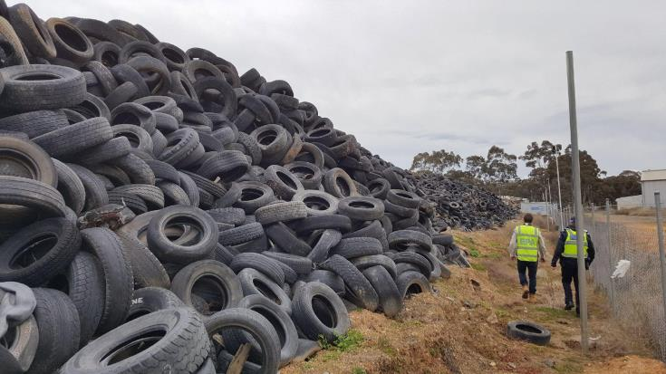 Clear up of old tyres completed