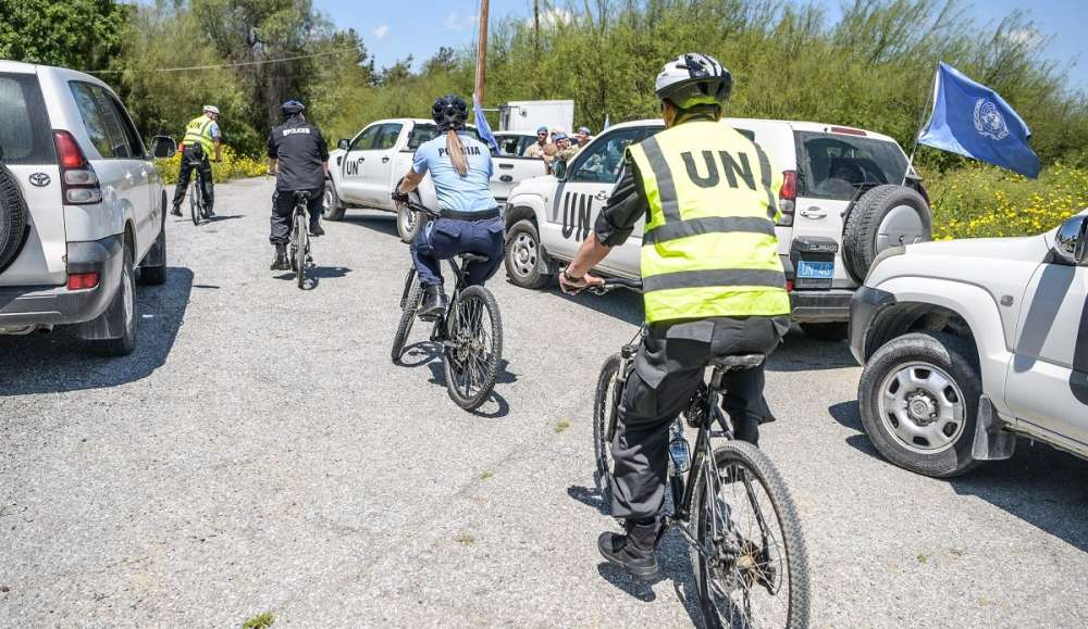 UNFICYP police begins bicycle patrols in buffer zone