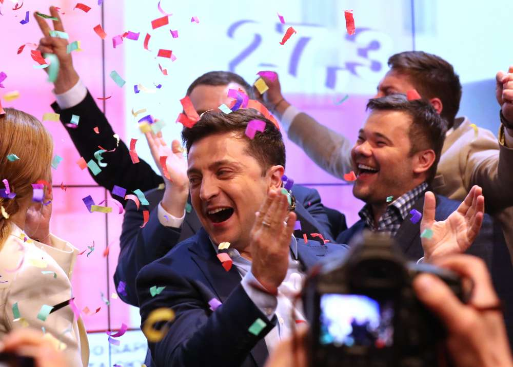 Landslide election victory thrusts Ukrainian comedian into limelight