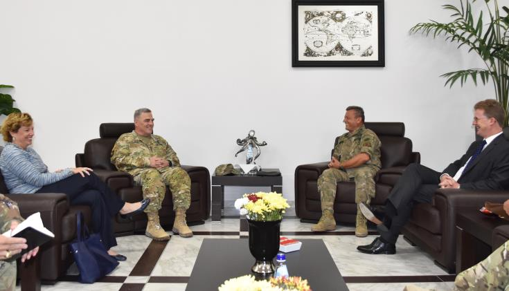 US Chief of Staff discusses regional security issues with Cyprus National Guard Chief