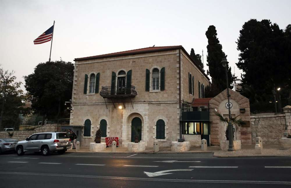 Flag comes down on U.S. Palestinian mission in Jerusalem