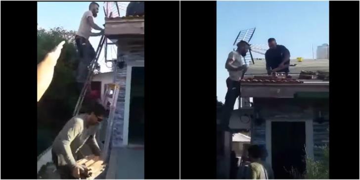 Limassol: Workers volunteer to repair roof of family in need (video)