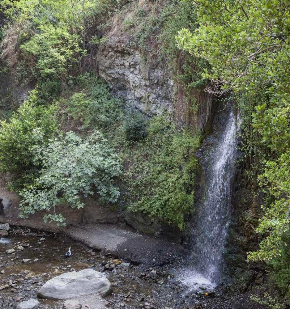 The Waterfall of Petra tou Androgynou (Couple's rock)