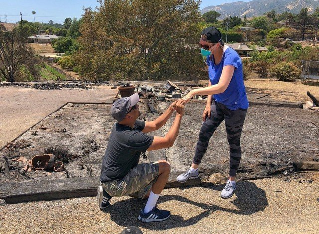 California couple find wedding ring in ashes of wildfire