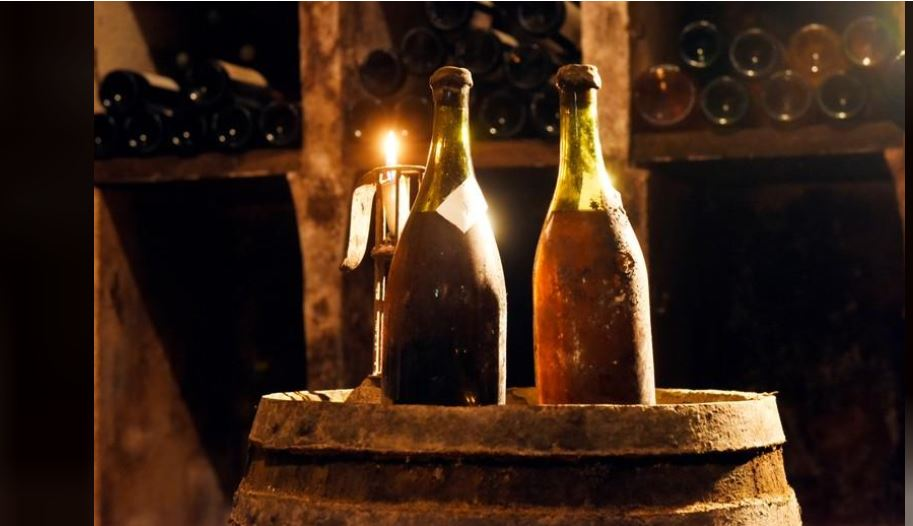 Bottles of 1774 wine for sale at French auction