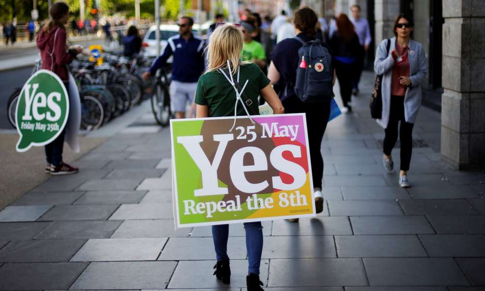 Exit polls point to landslide vote to relax Irish abortion laws