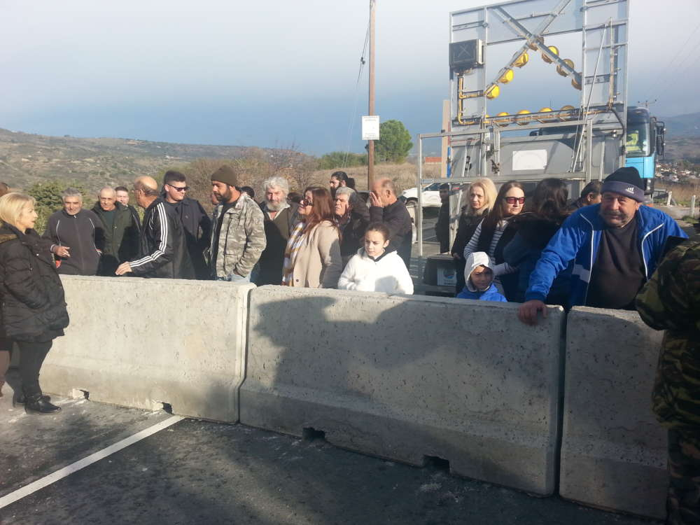 Yiolou road collapse: Residents' successful protest against temporary closure