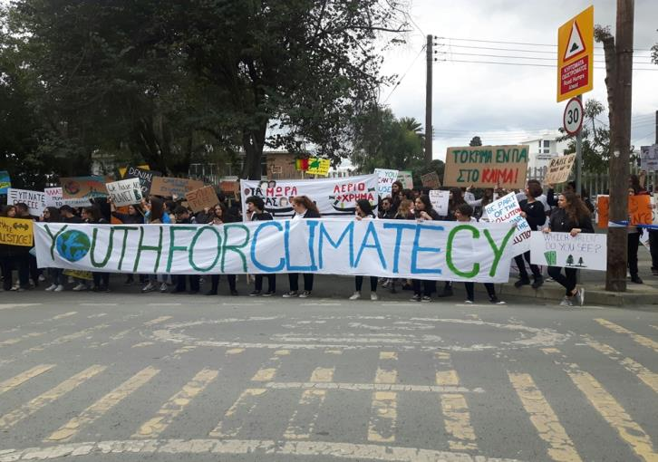 Pupils in Cyprus join global climate strike (photos+video)