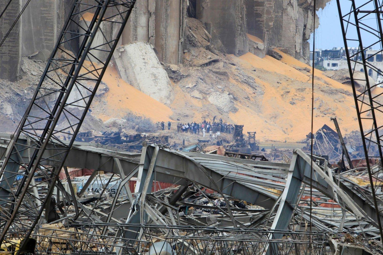 Excavators clear debris from ruined Beirut port