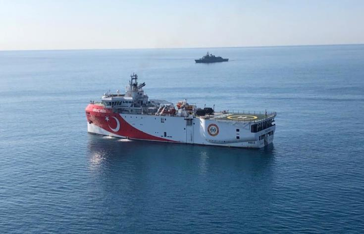 Research vessel Oruc Reis back in Turkey's continental shelf