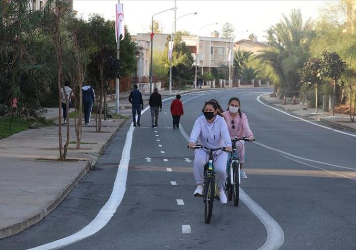 Cycle lane established in Famagusta (PHOTOS)