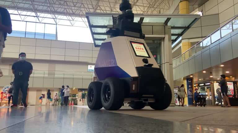Robots Police The Streets Of Singapore For Bad Social Behaviour