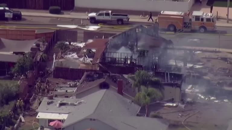 Two Dead, Two Hospitalized After Small Plane Crashes Into Homes Near San Diego
