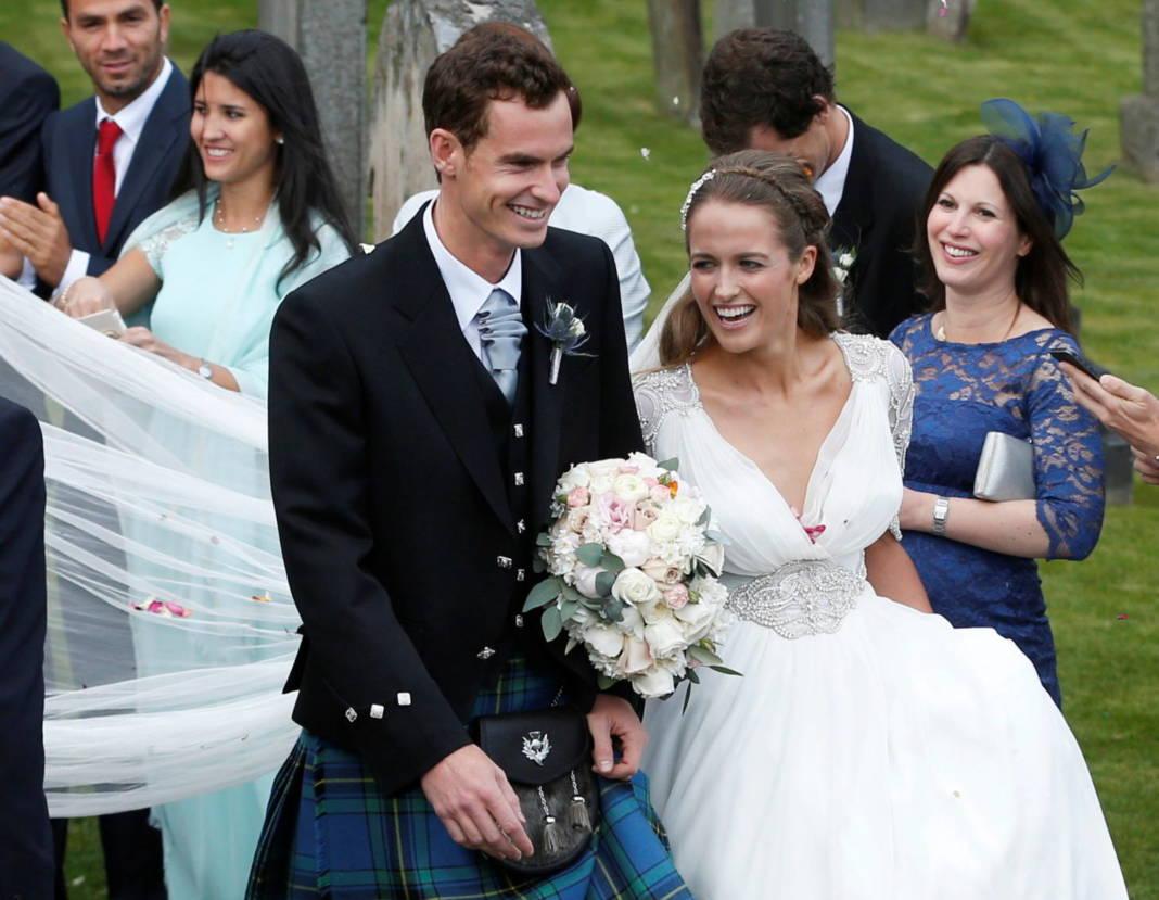 File Photo: Tennis Player Andy Murray Leaves After His Wedding To His Fiancee Kim Sears In Dunblane, Scotland
