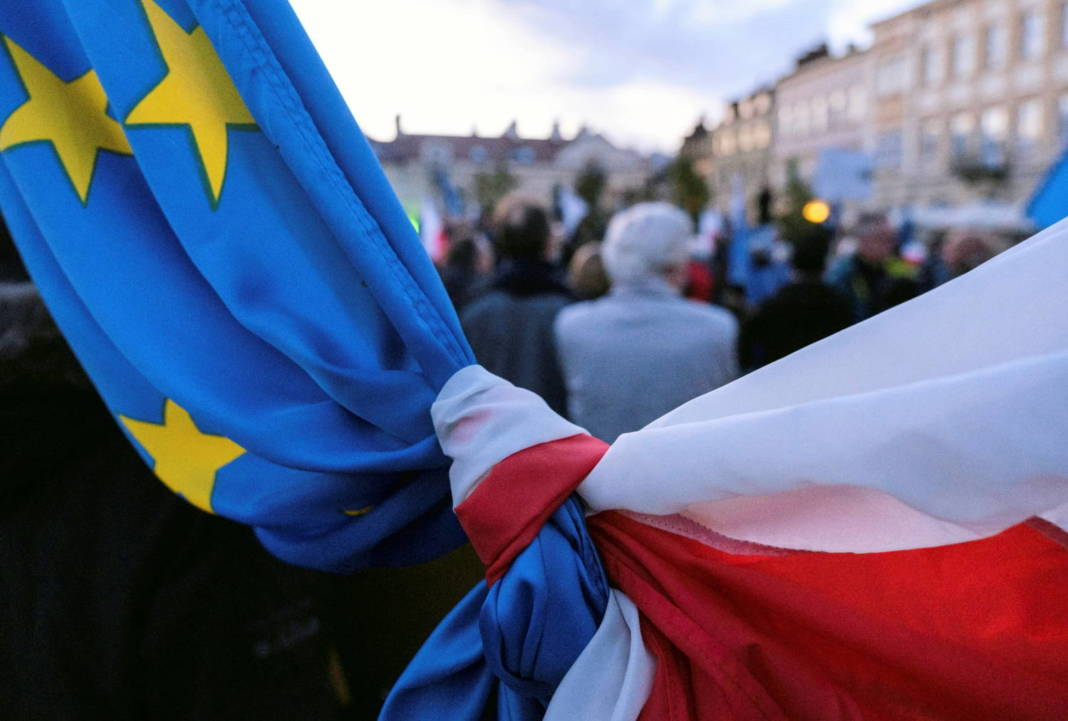 Rally In Support Of Poland's Membership In The European Union, In Rzeszow