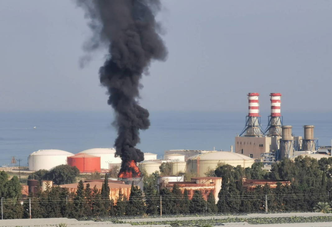 Smoke Billows From A Fire At The Zahrani Oil Facility In Southern Lebanon